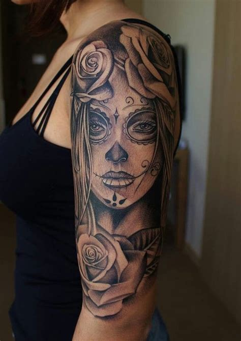 ideen und bilder zum thema la catrina tattoo