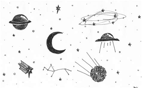 imagenes del universo a blanco y negro dibujo galaxia tumblr