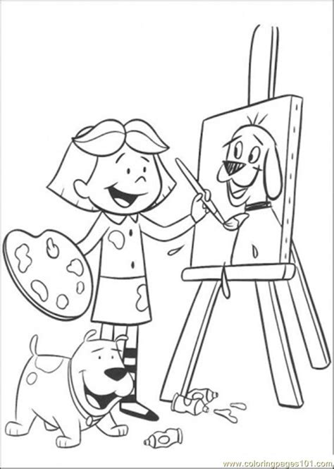 Coloring Pages Do Painting Cartoons Gt Clifford Free Paint Coloring Pages