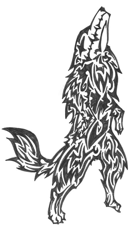 tattoo designs black and white wolf design black and white wolf design