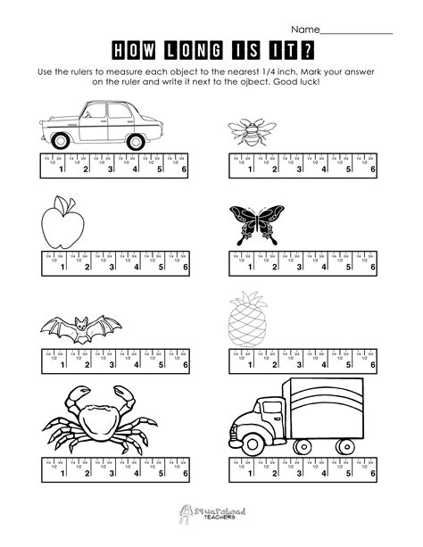 Measurement Spreadsheet by Ruler Squarehead Teachers