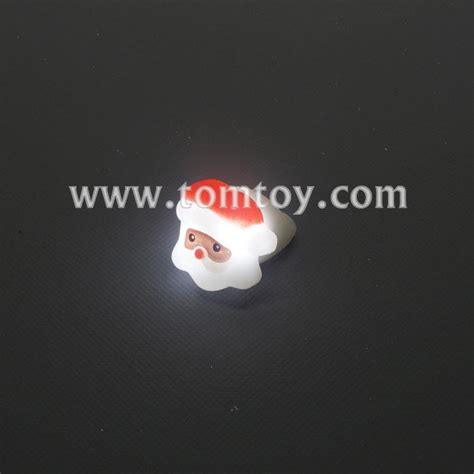 led light up rings santa claus light up rings tomtoy