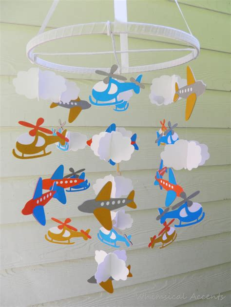 How To Make A Paper Mobile For Nursery - on the go baby paper nursery mobile with airplanes