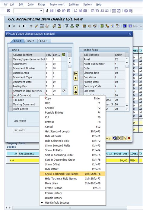 layout definition sap adding field quot asset quot bseg anln1 in the gl account line