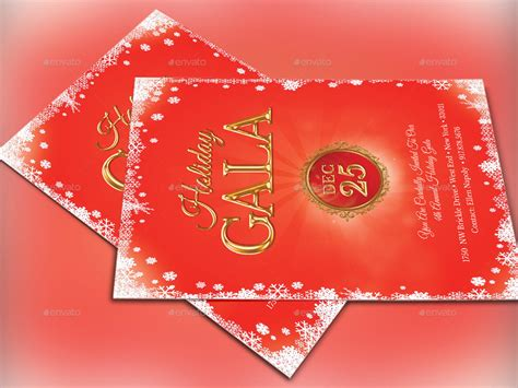 Holiday Gala Invitation Template By 4cgraphic2 Graphicriver Gala Invitation Template Free