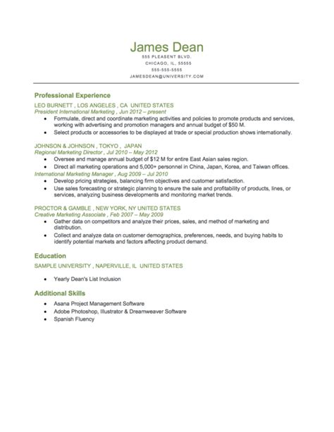resume format types chronological and combination resume