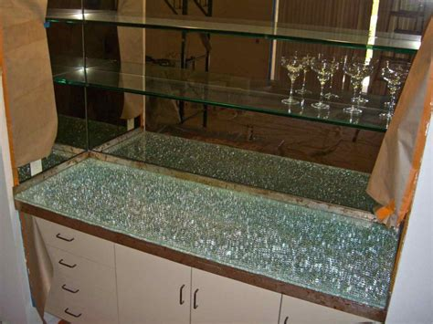 glass bar top shattered glass bar top starphire over clear mirror