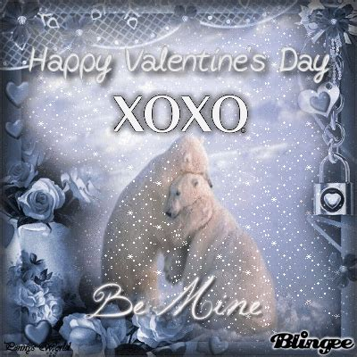 xoxo happy valentines day polar bear quote pictures   images  facebook tumblr