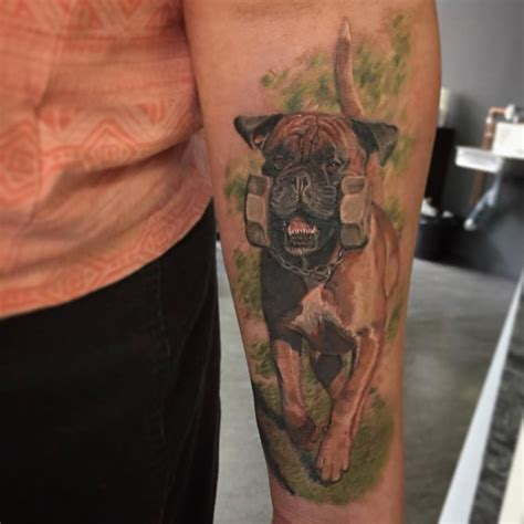 boxer dog tattoo 50 ideas for who dogs