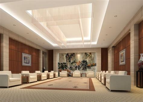modern design ceiling office ceo jpg 980 215 735 my office vip reception room interior design rendering 3d
