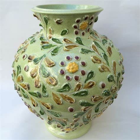 Italian Pottery Vase by Worked Italian Vase Italian Pottery Outlet