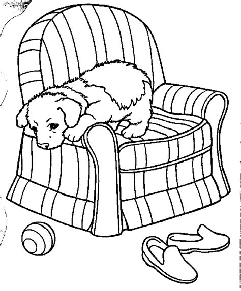 Puppies Coloring Pages For Kids Free Printable Coloring