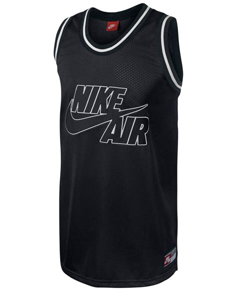 Logo Basketball Jersey lyst nike retro logo graphic basketball jersey in black