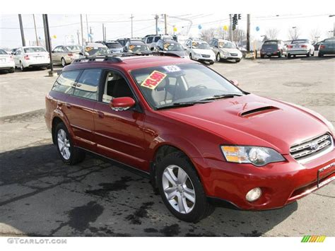 red subaru sedan 2005 garnet red pearl subaru legacy 2 5 gt wagon 3055166