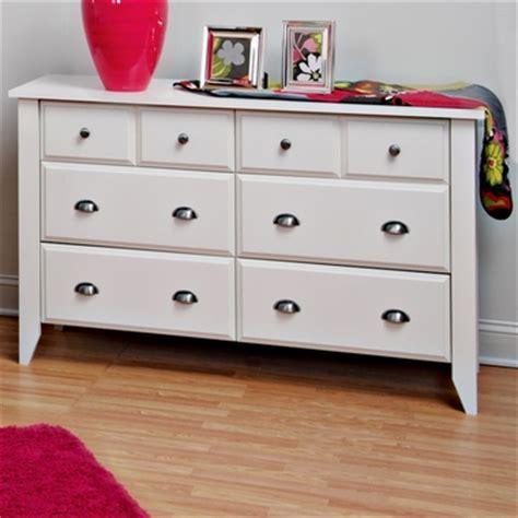 Shoal Creek Dresser White by Shoal Creek 6 Drawer Dresser Matte White F04709 46