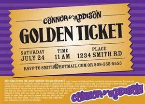 golden ticket invitation template invitation template