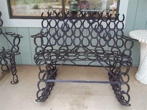 horseshoe bench horseshoe rocking bench tymeless antiques pinterest horse shoes shoe crafts and