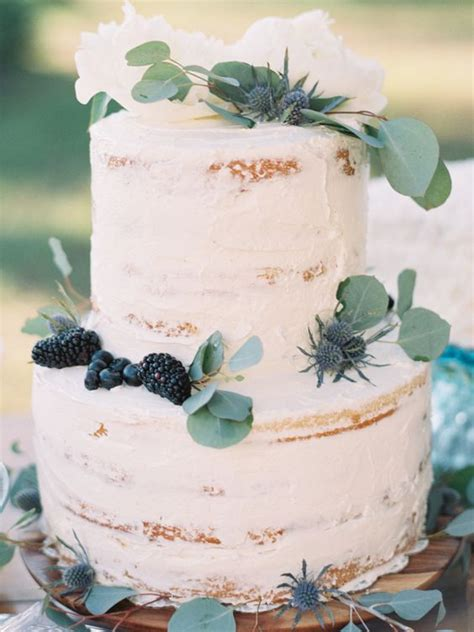 Loft Modern by Picture Of Two Tiered Cake Topped With Greenery