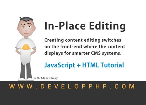 html javascript tutorial youtube in place editing cms development html javascript tutorial