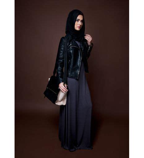 D F 01100699 Fashion Jaket abaya with leather jacket leather