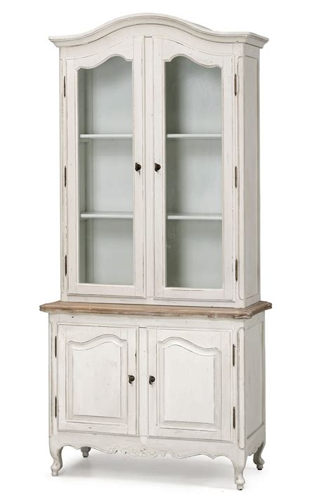 provincial classic glass display cupboard vintage - Classic Cupboard
