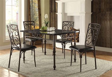 homelegance dryden dining set metal 5268 dining set
