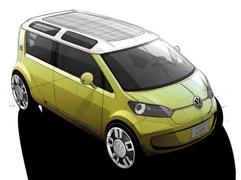 volkswagen space  blue concept car body design