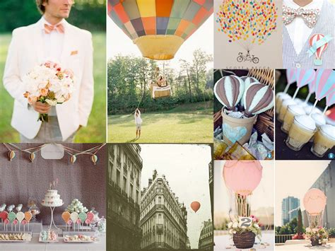 up up and away air balloon wedding inspiration fantastical wedding stylings