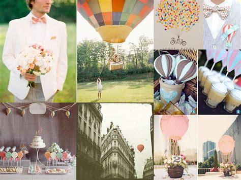 hot wedding themes up up and away hot air balloon wedding inspiration