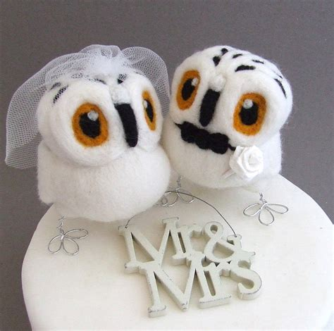owl toppers and groom owl wedding cake topper by feltmeupdesigns notonthehighstreet