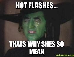 Thats Hot Meme - hot flashes thats why shes so mean make a meme