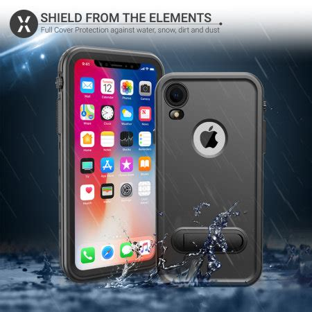 olixar terra 360 iphone xr water resistant black