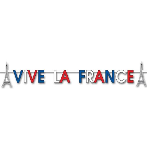 Decoration Home Games by Vive La France Banner 2m X 15cm Rugby Decorations Peeks