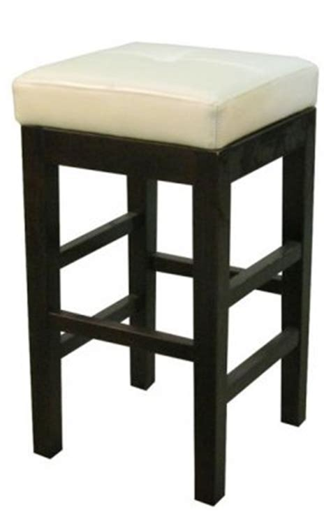 Square Leather Bar Stools by Valencia Square Leather Bar Stool