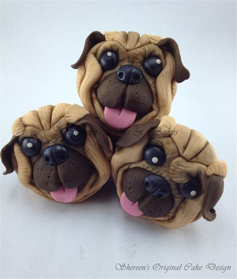 pug cupcakes top cakes with dogs cakecentral