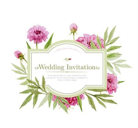 Wedding Card Design Flowers by Watercolor Flower Wedding Invitation Card Vector Ai