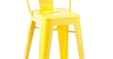 high back stool yellow industry west furniture