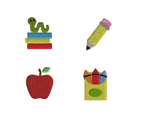design embroidery mini mini school machine embroidery design set instant download