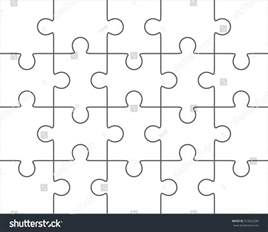 Large Jigsaw Puzzle Template by Jigsaw Puzzle Vector Blank Simple Template 4x5 Twenty