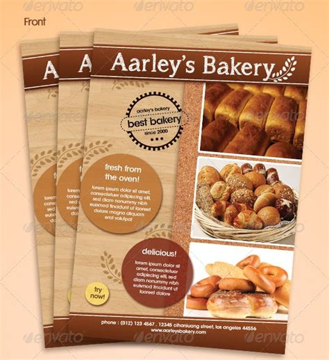 Free And Premium Food And Restaurant Menu Brochure 56pixels Com Bakery Flyer Templates Free
