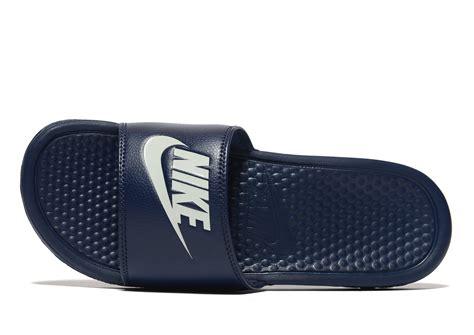 Sepatu Nike Just Do It Navy Slip On Asli Import lyst nike benassi just do it slides in blue for