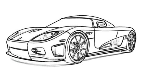 coloring page sports cars koenigsegg ccx sports car coloring picture free online