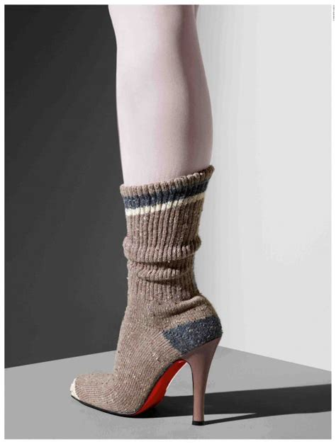 socks for high heels i might like or loathe this sock shoe from christian