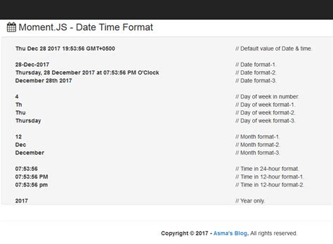 javascript format date using moment javascript date and time library moment js