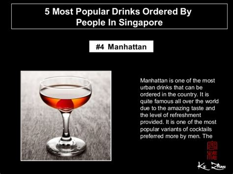 5 Most Popular Cocktails by 5 Most Popular Drinks Ordered By In Singapore