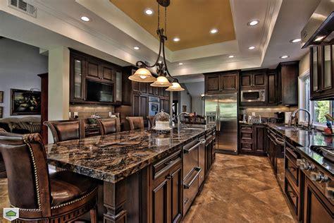 hunting lodge decor Kitchen Traditional with dark cabinets granite granite   beeyoutifullife.com