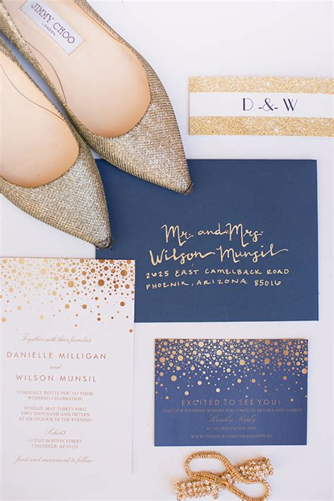 wedding invitations navy and gold gold and navy wedding