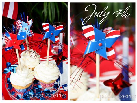 July 4th Party Table Pizzazzerie