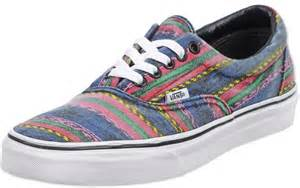 multi colored vans vans era shoes multicolor