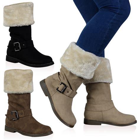 womens fur lined boots vh3 womens faux fur lined trim flat winter calf